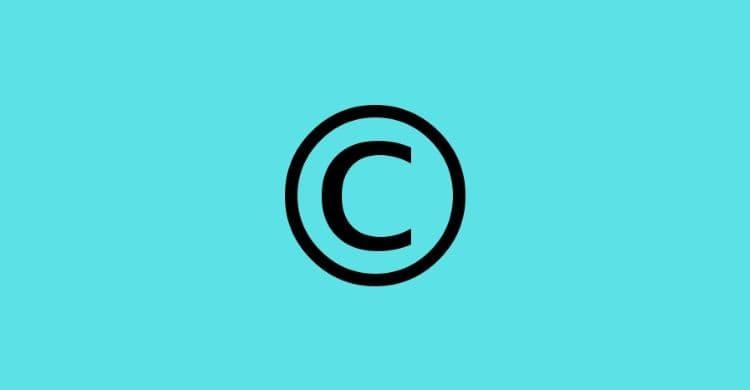 membuat copyright untuk website