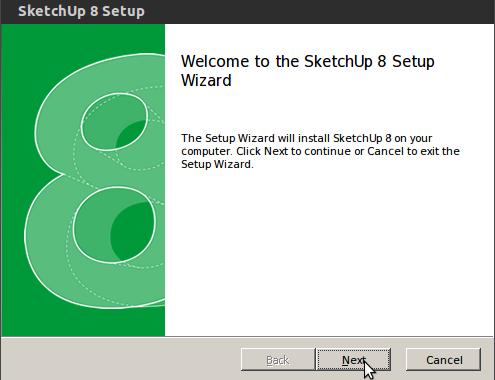 cara install sketchup di ubuntu