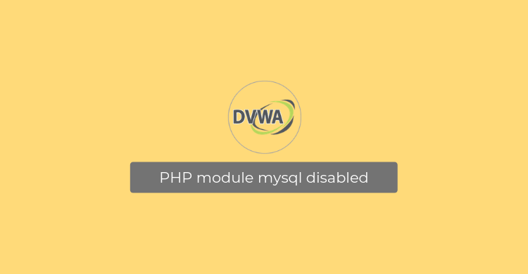 PHP module mysql disabled