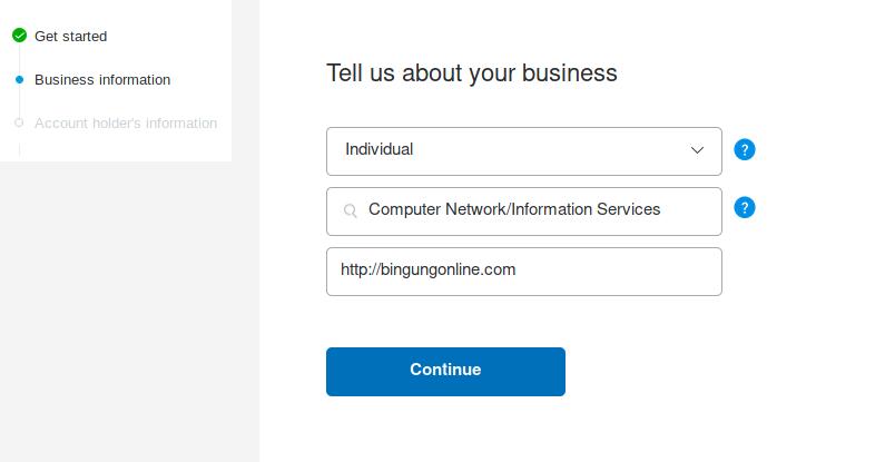 Cara Mendaftar akun PayPal