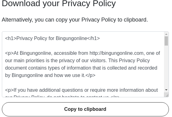 Membuat Halaman Privacy and Policy di Blog dan WordPress