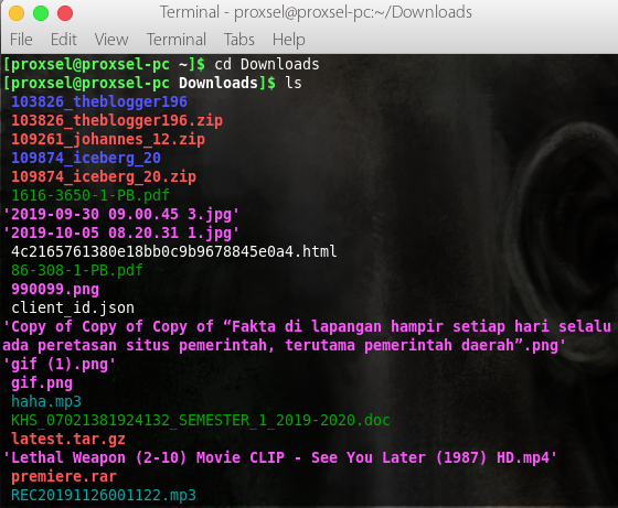 Cara Membuka/Ekstrak dan Membuat file RAR di Linux.