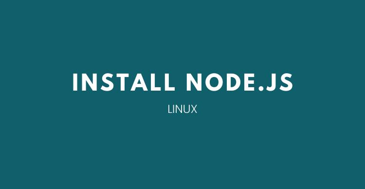 install node.js di linux