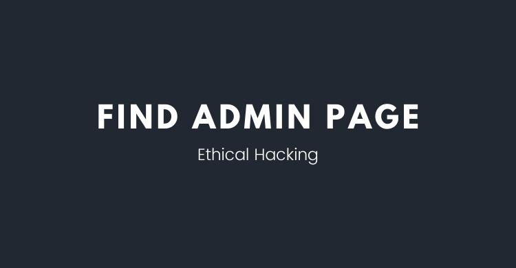 Mencari halaman admin sebuah webiste