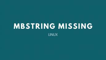mengatasi error mbstring missing di PHPMyAdmin